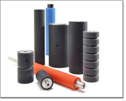 Rubber Covered Replacement Rollers Belt Guide Wheels